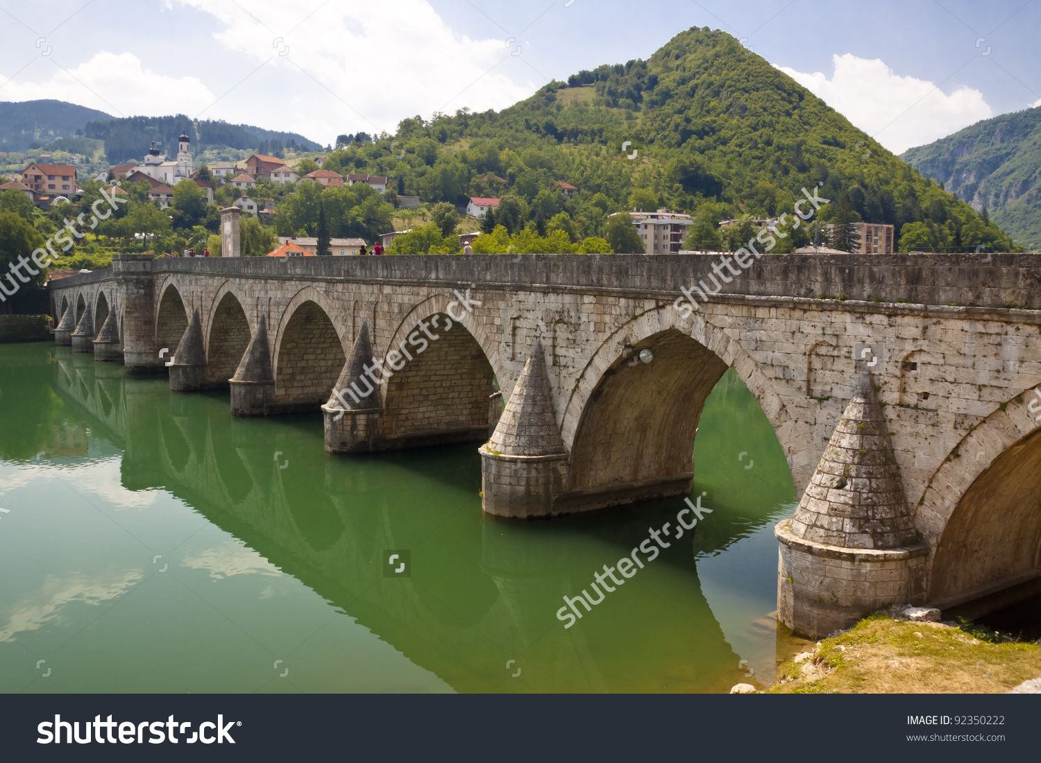 Old Beauty Bridge On Drina River Stock Photo 92350222.