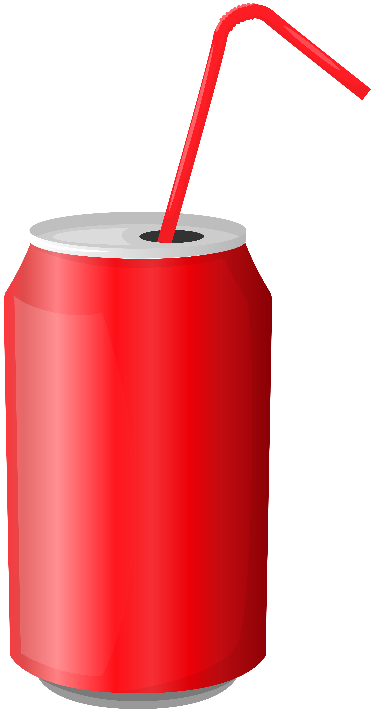 Drink Can Transparent Clip Art Image.