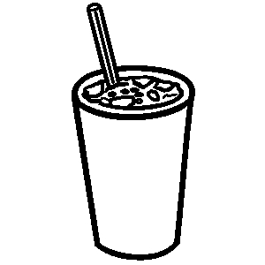 Drink clipart black and white 7 » Clipart Station.