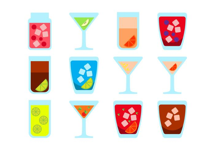 Free Alcoholic Drink Icon Vector.