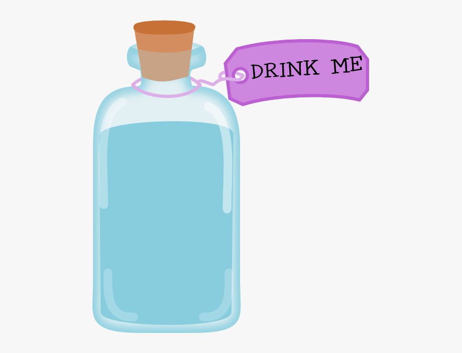Bottle Clipart Alice In Wonderland.