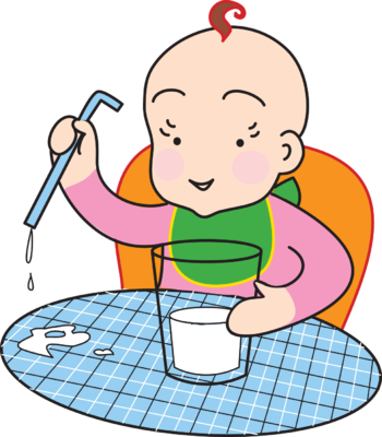 Drinking milk clipart kid.
