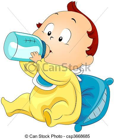 Baby Drinking Milk.