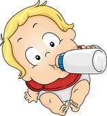 Boy Drinking Milk Clip Art.