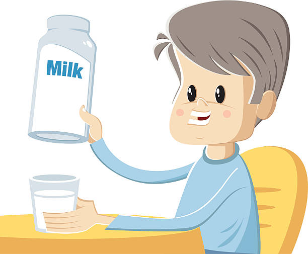 Best Boy Drink Milk Illustrations, Royalty.