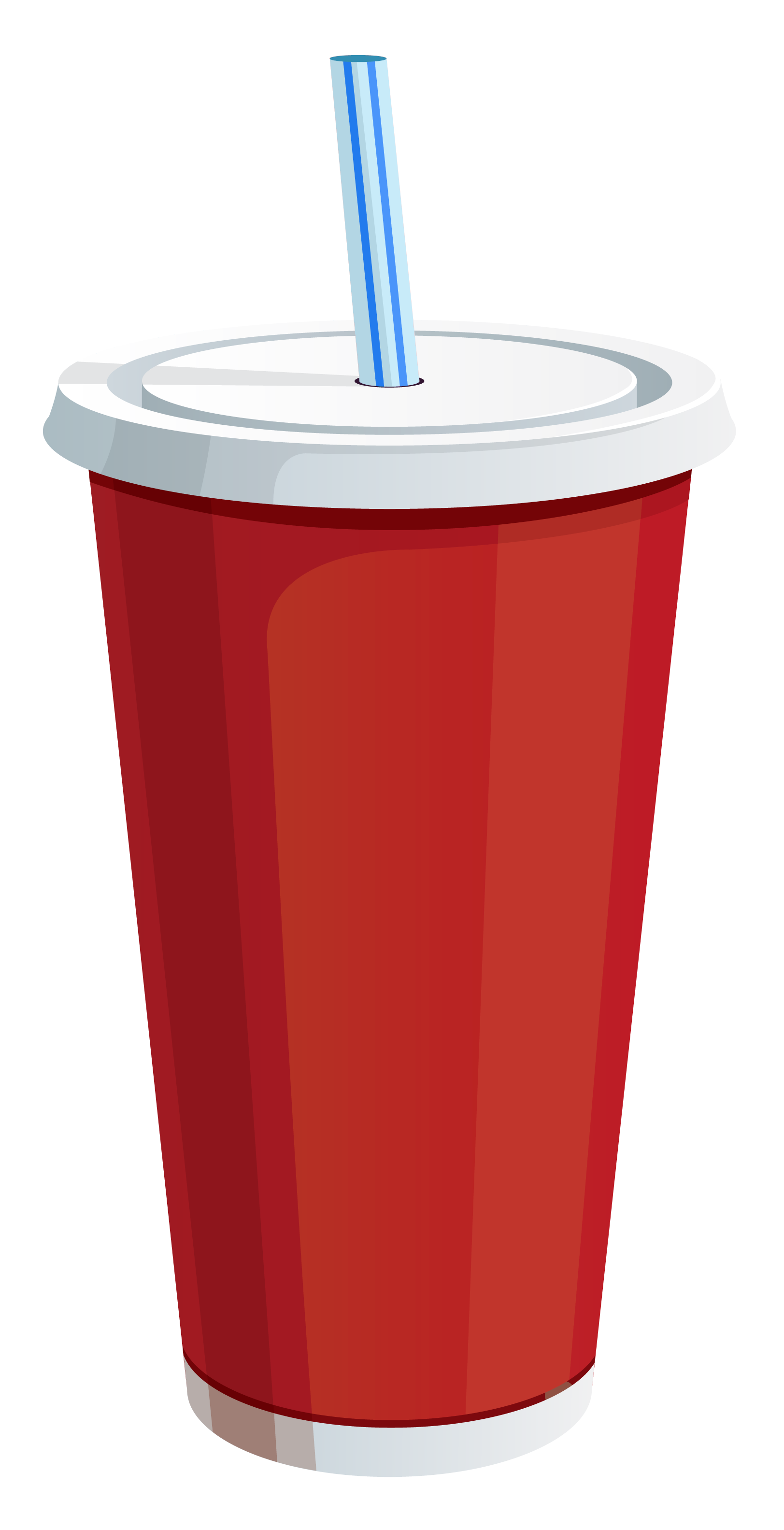 Red Plastic Drink Cup PNG Vector Clipart Image.