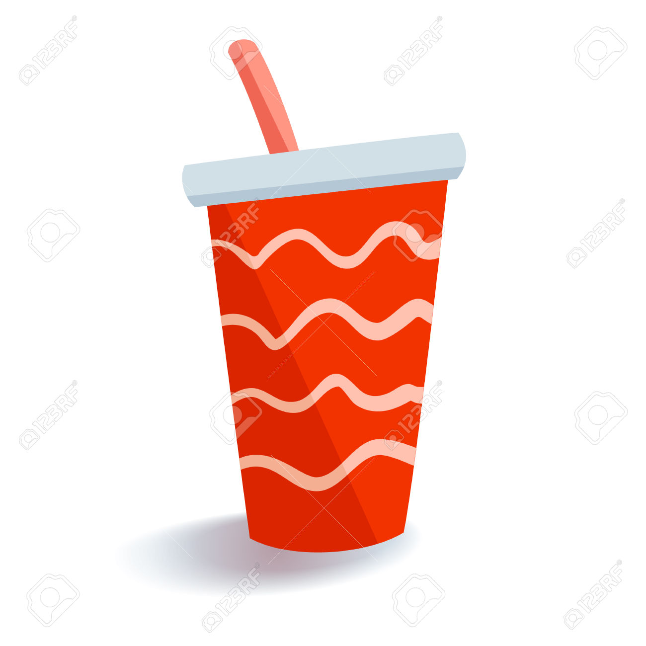 A Red Drink Cup With A Straw Royalty Free Cliparts, Vectors, And.