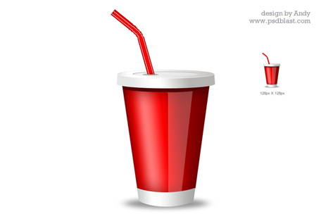 Red Drink Glass Icon, Vector File.