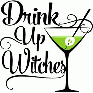 Silhouette Design Store: drink up witches.
