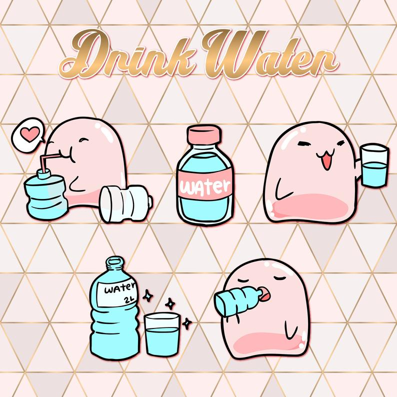 Drink Water Clipart.