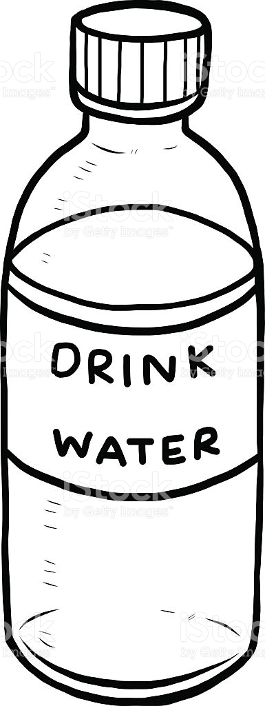 drink water clipart black and white - Clipground