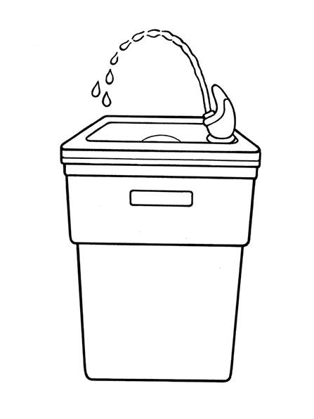 toilet clipart and water fountain