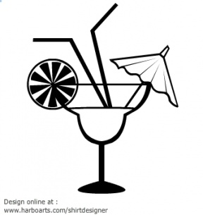 Drink With Umbrella Clipart.