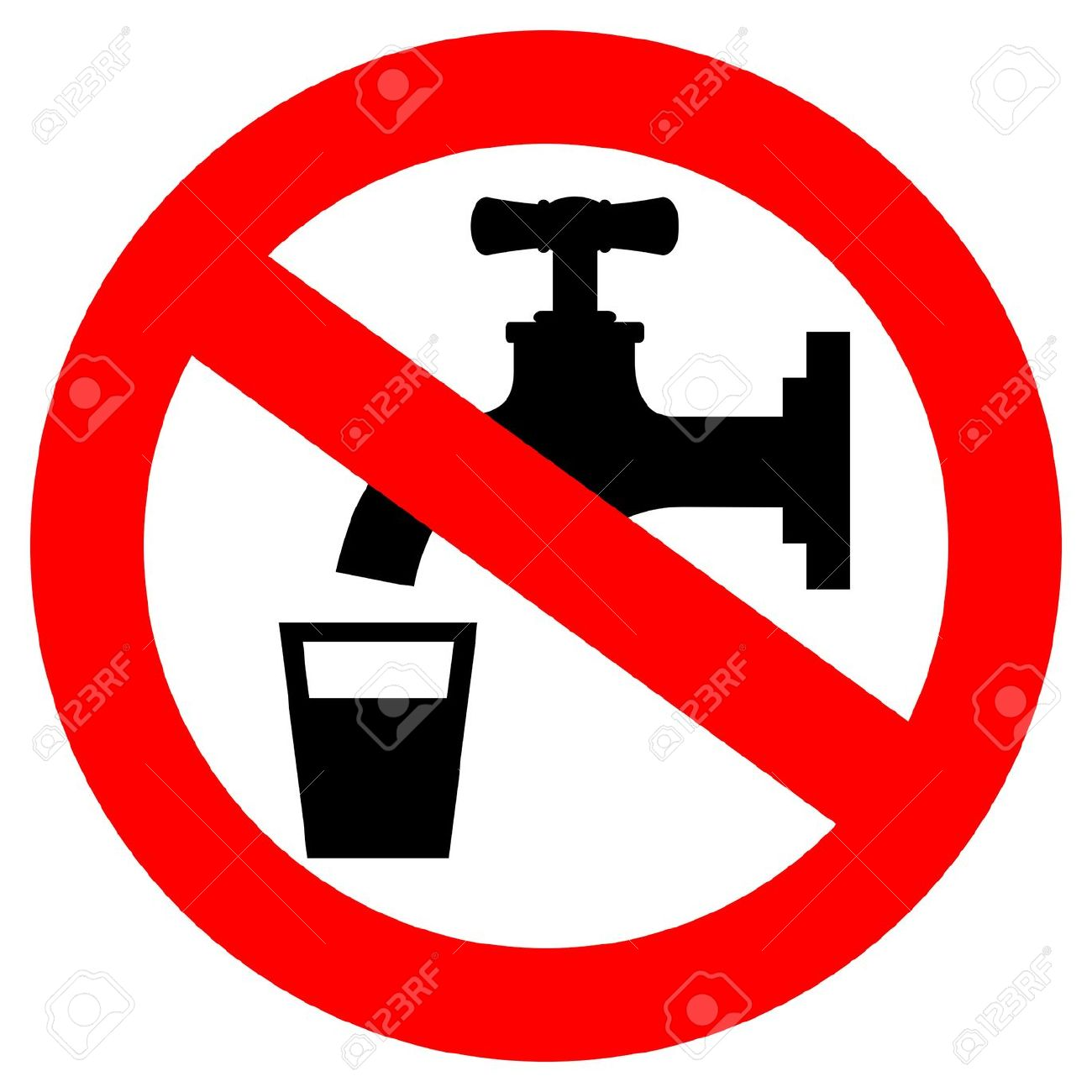 Do Not Drink Water Sign Royalty Free Cliparts, Vectors, And Stock.