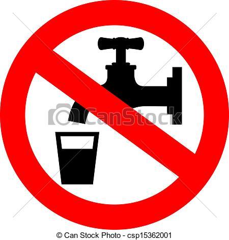 Vector Clipart of Do not drink water, vector sign csp15362001.