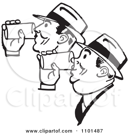 Clipart people having a drink.