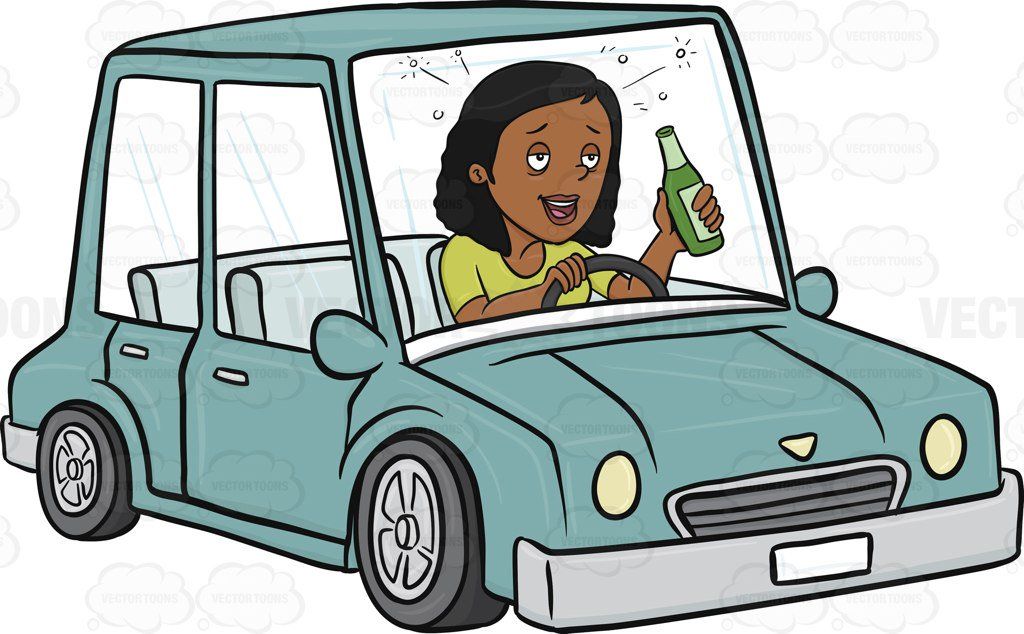 Drinking And Driving Clipart.