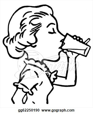Drinking Clipart Black And White.