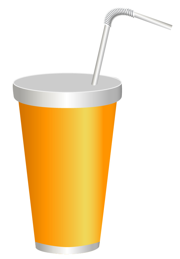 Yellow Plastic Drink Cup PNG Clipart Image.