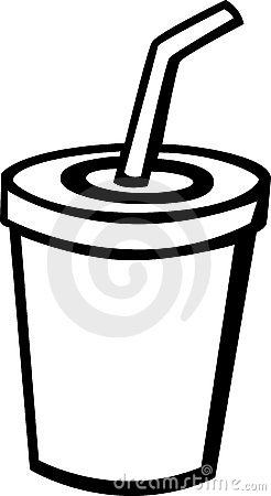 Cup with straw clipart.