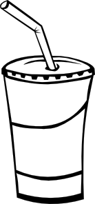 Soft Drink In A Cup (b And W) Clip Art at Clker.com.