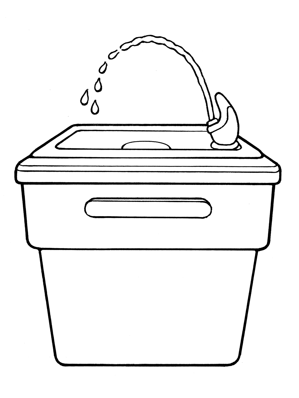 School drinking fountains clipart.