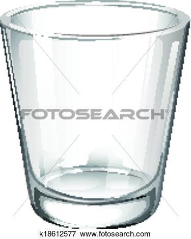 Clip Art of A plain drinking glass k18612577.