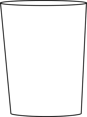 Black and White Drinking Glass Clip Art.