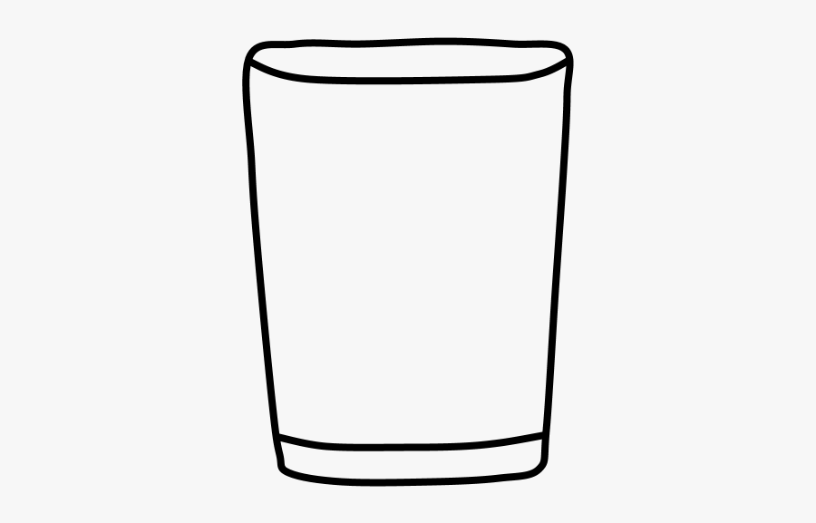 Drinking Glass, Black And White.