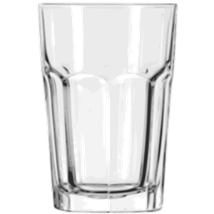 Beverage glass clipart.