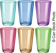 Drinking glasses clipart.