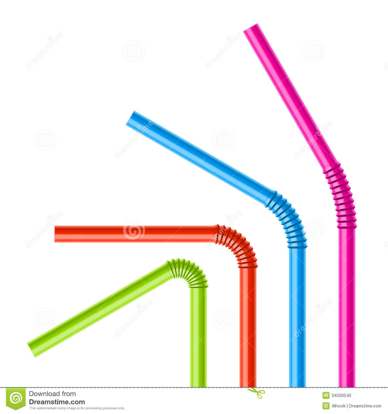 Beverage Drinking Straw Stock Illustrations.