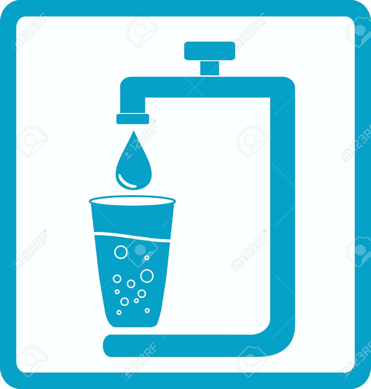 Water pollution drinking water clipart.