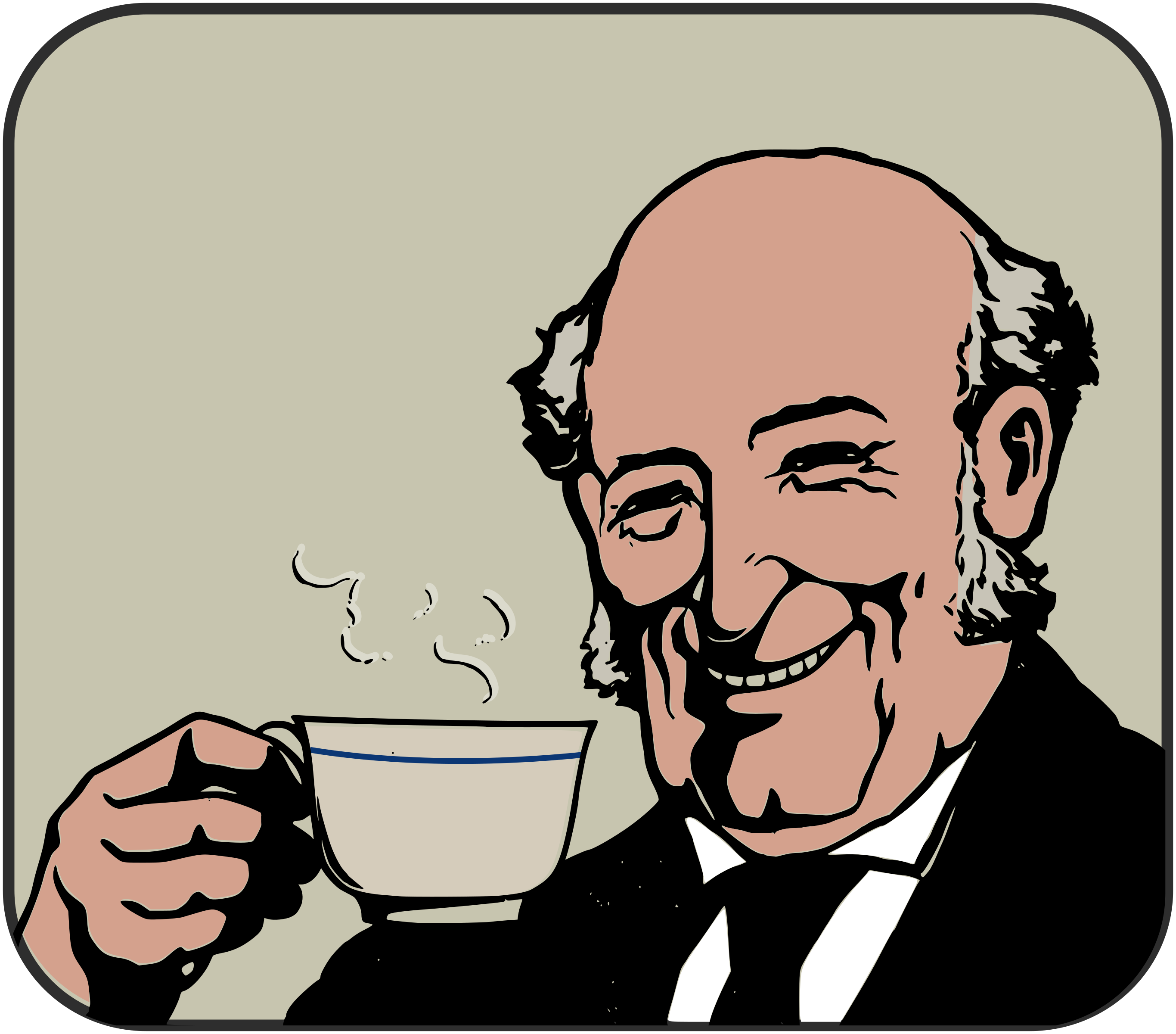 People drinking tea clipart.