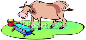 Farm animal water clipart.