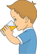 People Drinking Clipart.