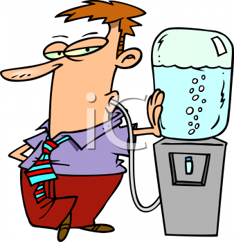 Person Drinking Water Clipart.