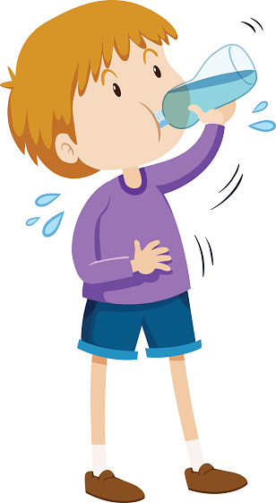 Drinking Water Clipart.