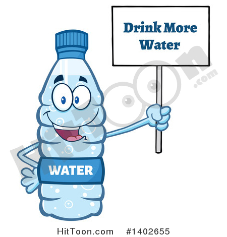 Drinking Bottled Water Clipart.