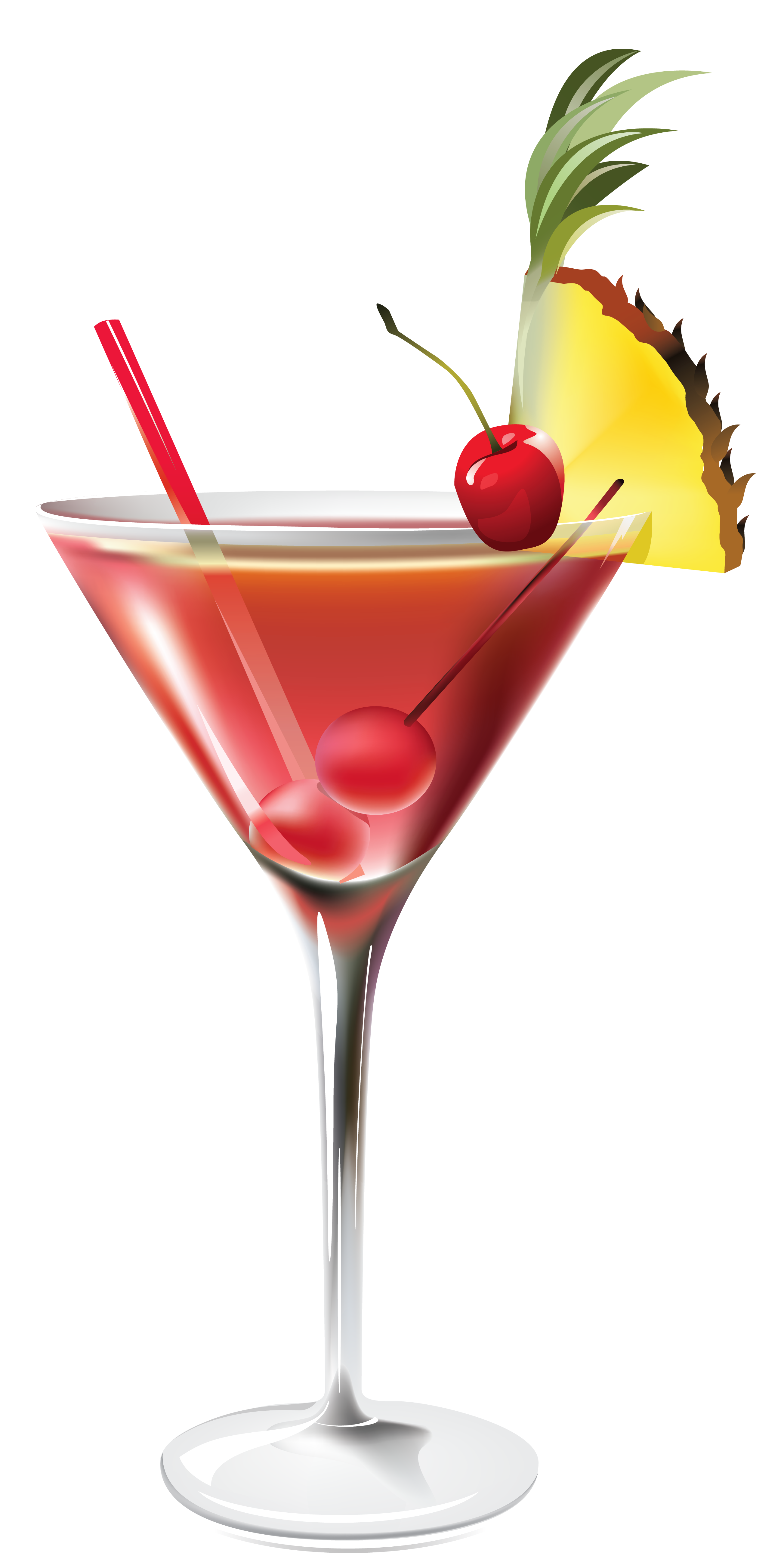 Cocktail with Pineapple PNG Clipart Picture.
