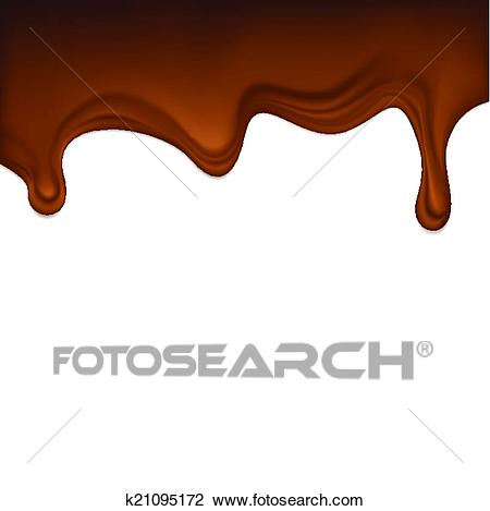 Dripping chocolate Clipart.