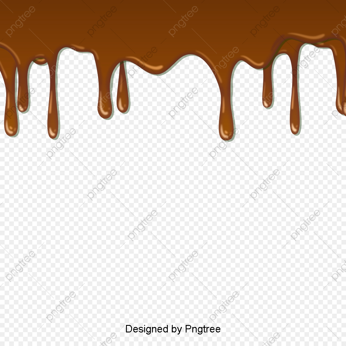 Vector Texture Chocolate Dripping Material, Chocolate Dripping.