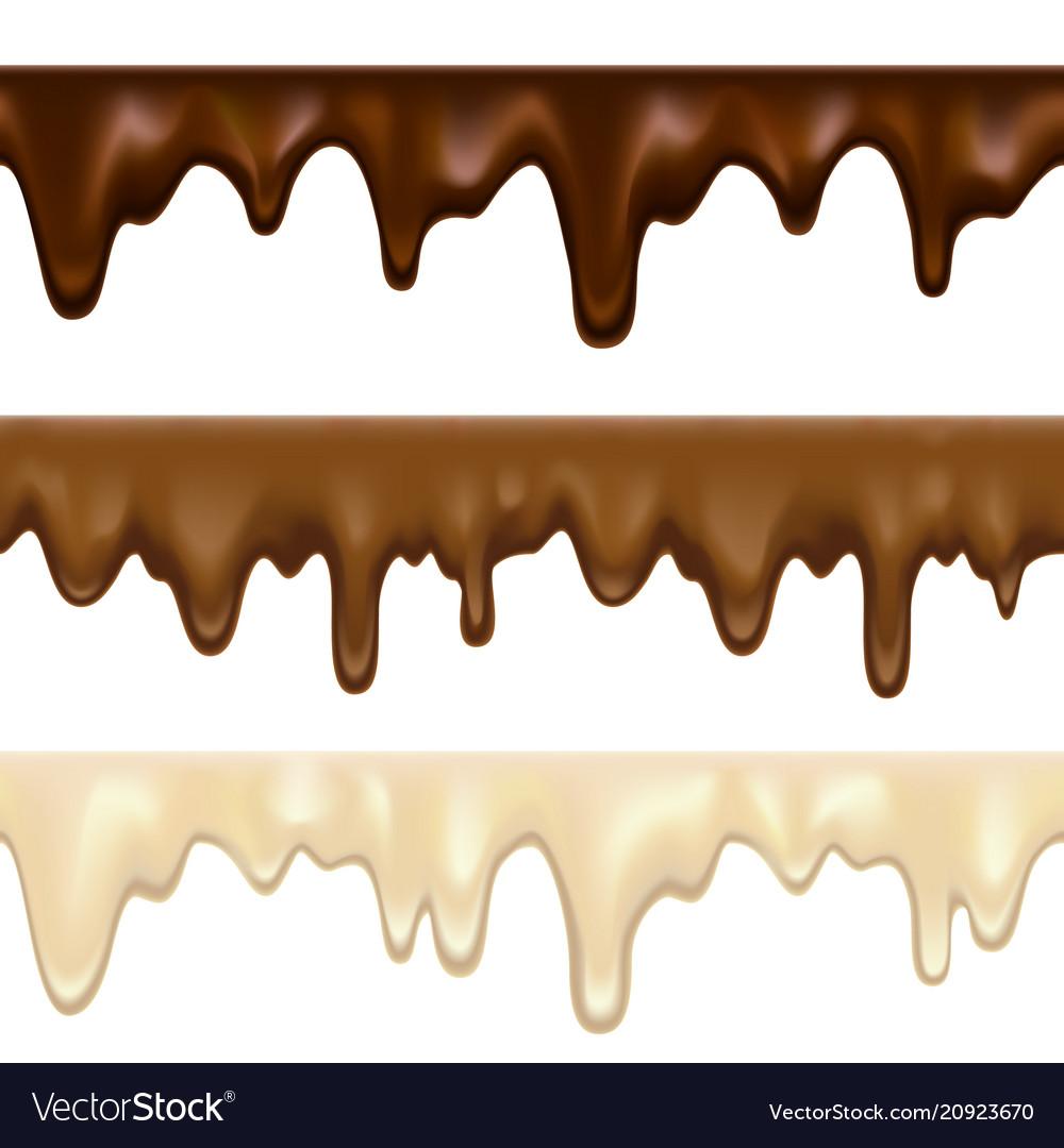 Dripping white chocolate melt.