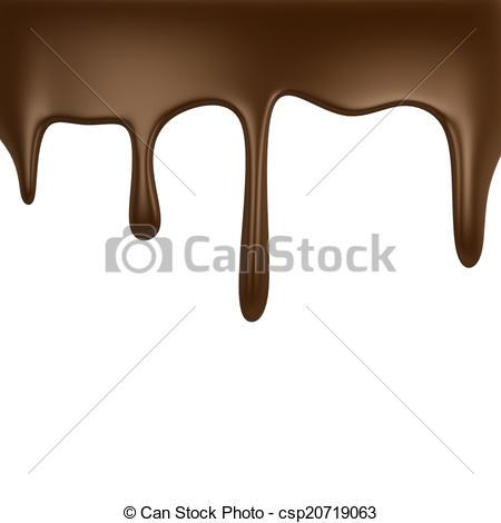 Chocolate dripping.