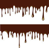 Flowing chocolate drops Clipart.