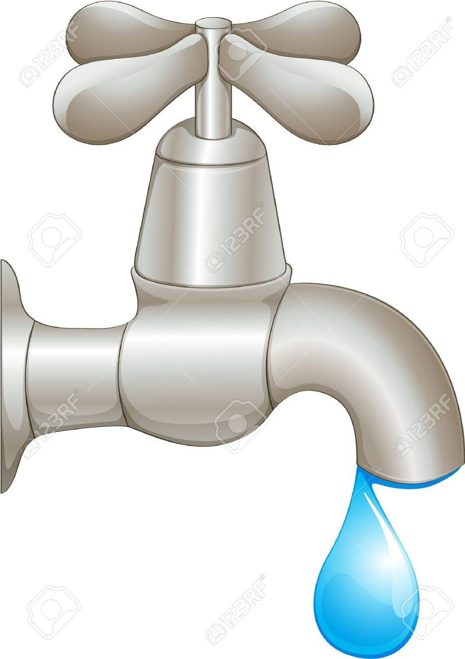 Illustration of a dripping faucet.