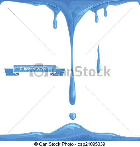Clipart of dripping water.