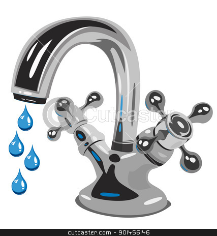 Dripping Water Faucet Clipart.