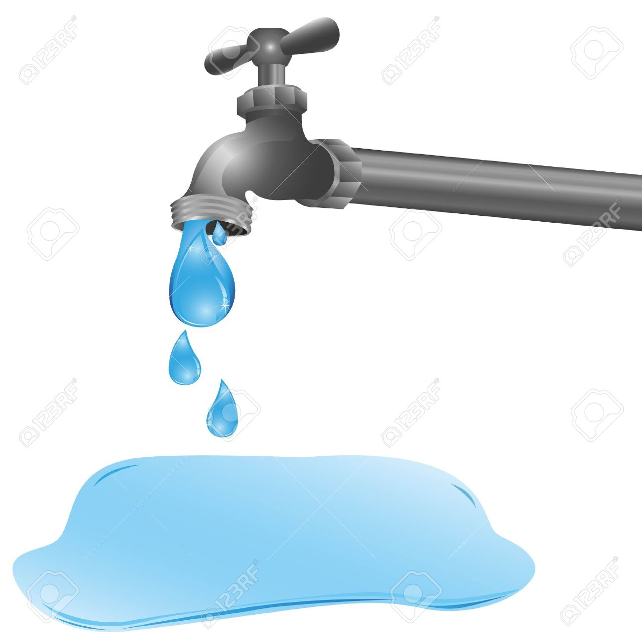 Tap Dripping Water Clip Art.