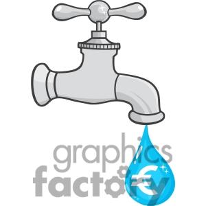 Dripping Water Faucet Clip Art.